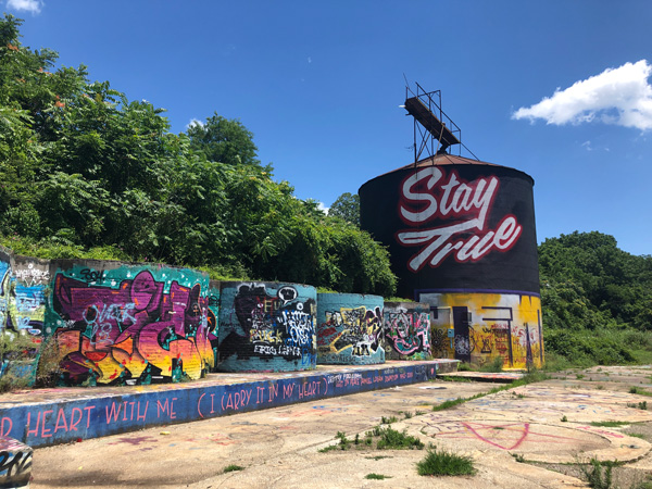 Asheville NC Silo with street art
