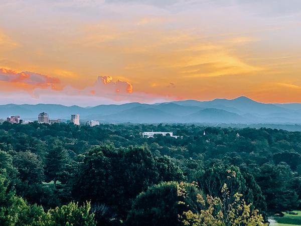 Omni Grove Park Inn Sunset Asheville NC