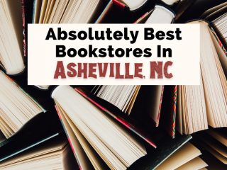 Best Asheville Bookstores New And Used with pictures of books standing up and pages partially opened