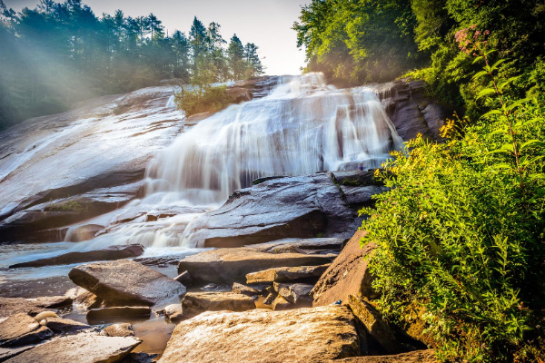 Bridal Veil Falls Waterfalls Near Asheville at DuPont Forest