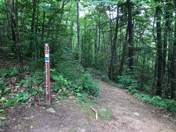 Douglas Falls Trailhead Barnardsville, North Carolina