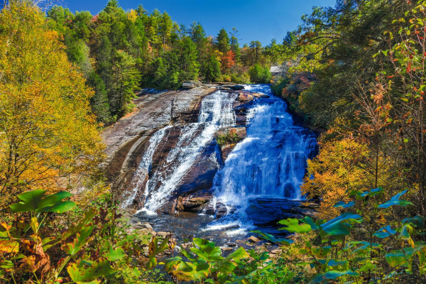 Waterfalls Near Asheville High Falls DuPont State Forest waterfalls in the fall