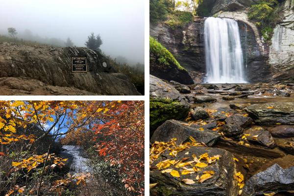 Black Balsam Knob, Graveyard Fields Lower Falls, and Looking Glass Falls