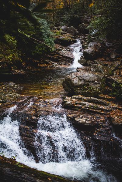 Skinny Dip Falls Waterfall NC