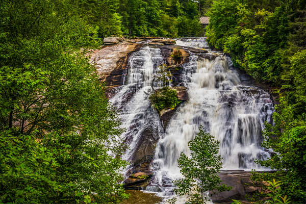 High Falls DuPont State Forest waterfall