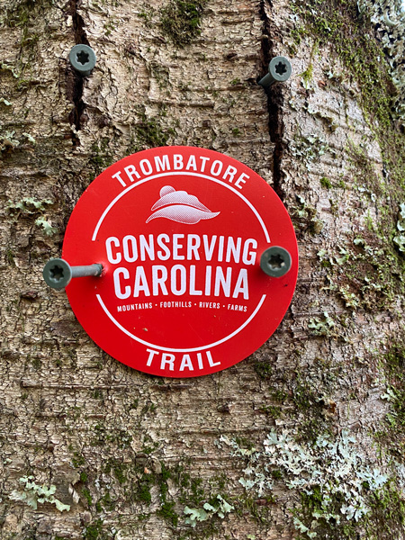 Conserving Carolina Trombatore Red Trail Marker