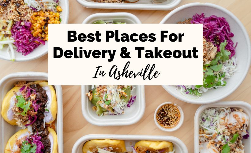 Best Asheville Takeout and Delivery with picture of thai food in takeout containers