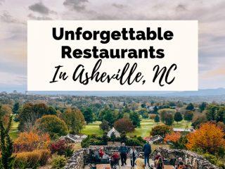 Best Asheville Restaurants View from Sunset Terrace at Omni Grove Park Inn