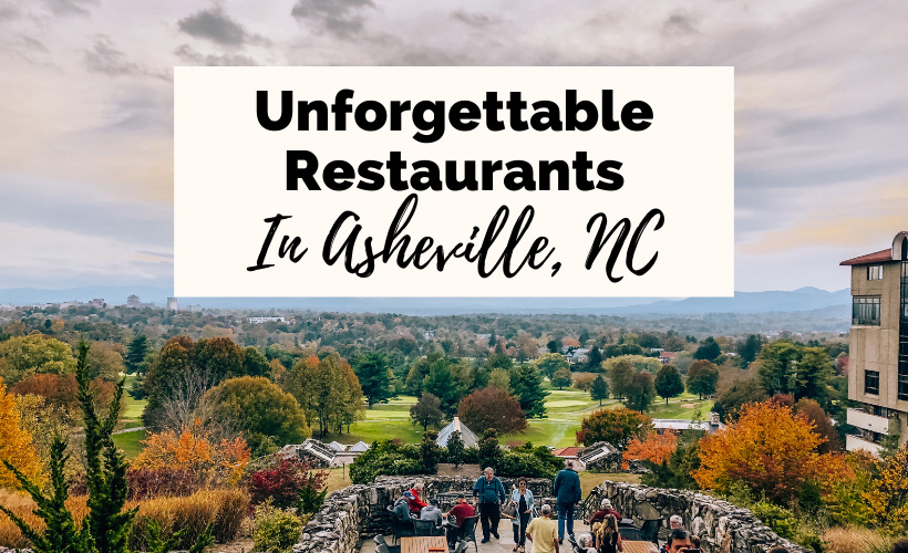 Best Asheville Restaurants View from Sunset Terrace at Omni Grove Park Inn