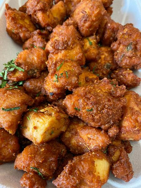 Chai Pani Asheville chicken pakoras