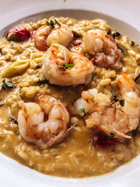 Chiesa Asheville Risotto with shrimp