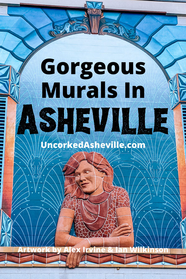 Gorgeous murals in Asheville NC with Daydreamer by Ian Wilkinson and Alex Irvine