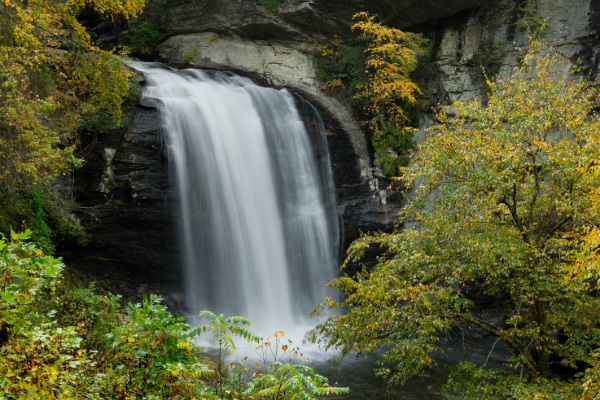Looking Glass Falls Pisgah National Forest NC in the fall