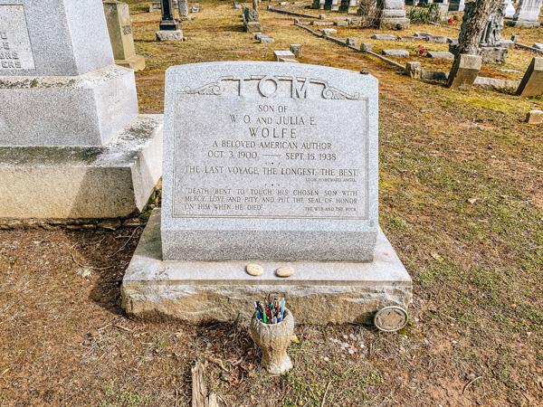Thomas Wolfe Gravestone Riverside Cemetery Montford Neighborhood Asheville