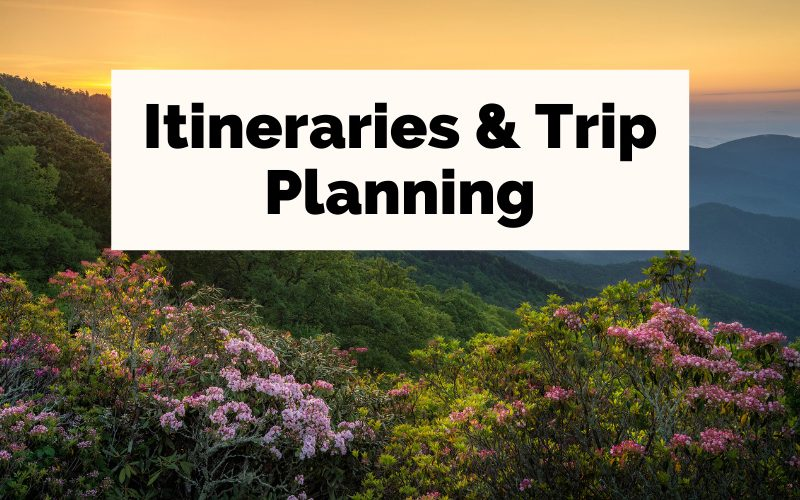 Asheville Itineraries and Trip Planning with picture of Blue Ridge Mountains