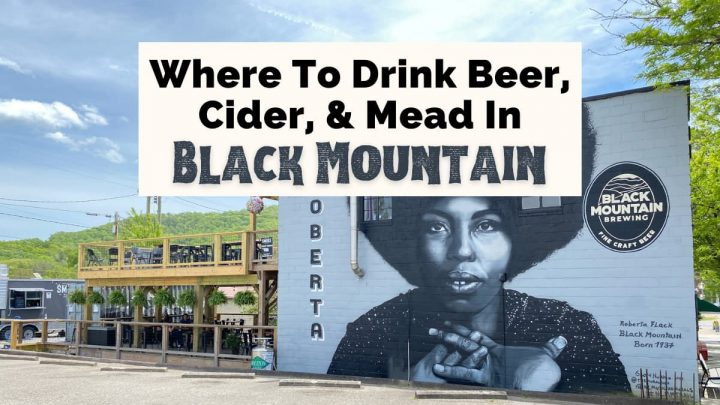 Breweries In Black Mountain NC with Black Mountain Brewing and Roberta Flack mural