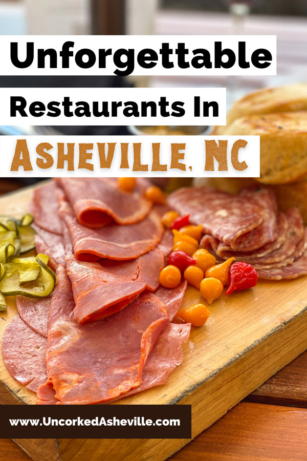 Best Asheville NC Restaurants with picture of meat charcuterie from Great Hall Bar at Grove Park Inn
