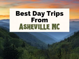 Best Day Trips From Asheville NC with Great Smoky Mountains at sunset