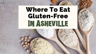 Best Gluten-Free Restaurants Asheville NC with spoons filled with gluten substitutions like chickpeas, rice, and almonds