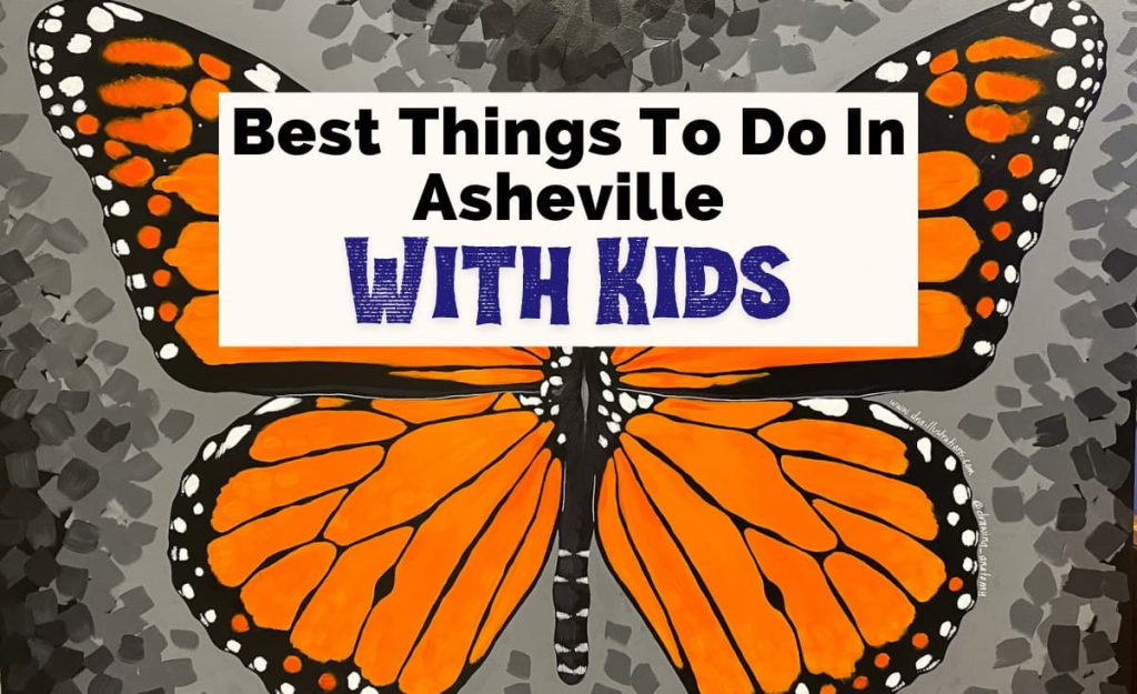 Best Things To Do In Asheville With Kids with orange and black monarch butterfly from Asheville Museum of Science